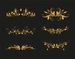 Golden Vintage Olive Design Elements