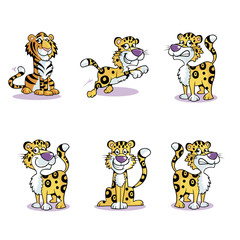 Image of Running Cute Baby Tiger Collection