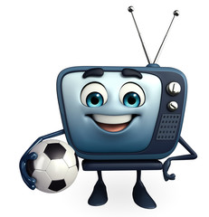 TV character with football