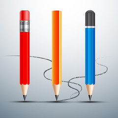 pencil set  vector illustration