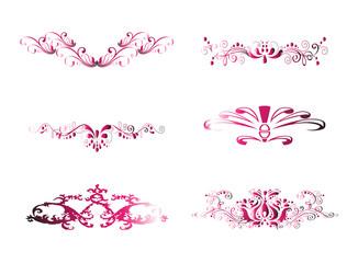 Pink Vintage Floral Design Element