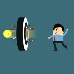 Businessman - Target Bulb
