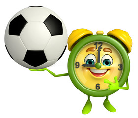 Table clock character with football