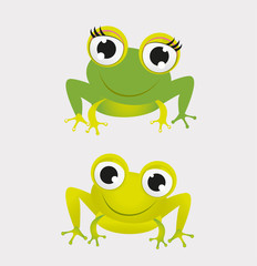 Two Frog Vector