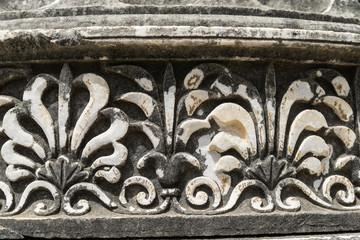 Ornament of columns, Didyma, Turkey.