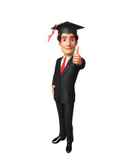 Young Business Man with graduate hat