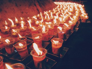 sea of candles