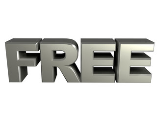 Free Silver text Sign