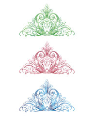 Vintage Ornamental Floral Vector Set