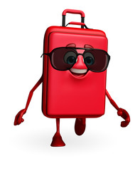 Travelling bag Chatacter with sun glasses