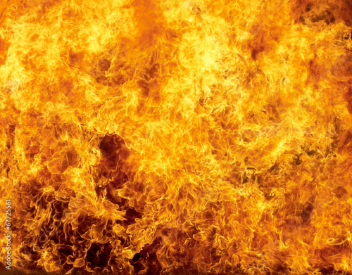 canvas print picture Burning fire