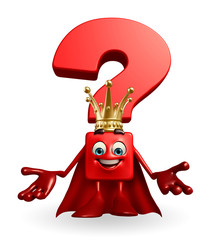 Question Mark character as a king