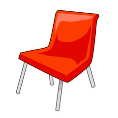 plastic chair isolated illustration