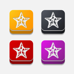 square button: starfish