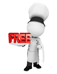 Chef with free text sign