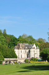 France, the picturesque castle of Chaussy