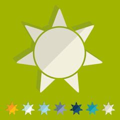 Flat design: sun