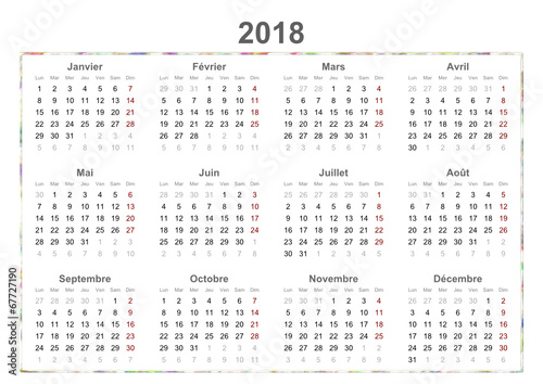 2018 french calendar