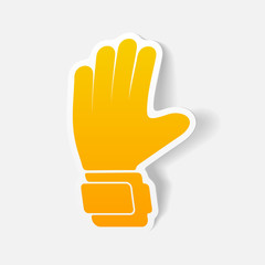 realistic design element: gloves