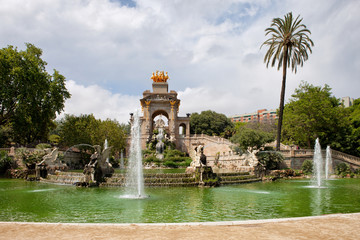 The Cascada in Ciutadella Park in Barcelona