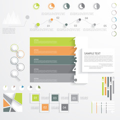 Universal infographic template, flat design, vector illustration