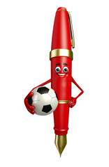 Pen Character with football
