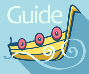 Guide boat flat Icon