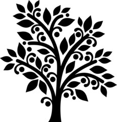 Decorative graphic tree