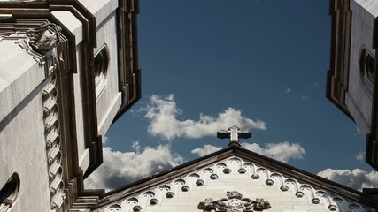 Cross Catholic Church in the sky