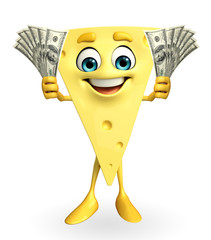 Cheese Character with dollars