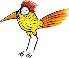 Funny yellow bird