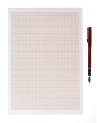 Empty notepad (notebook) isolated on white