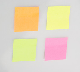 Empty sticky notes