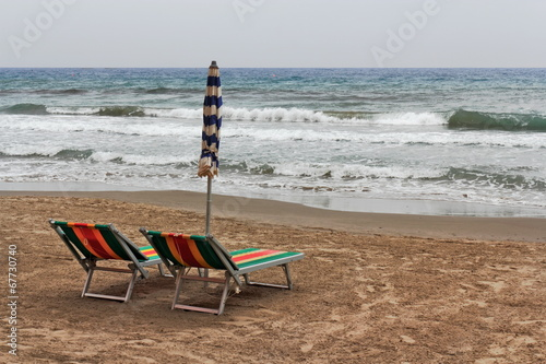 canvas print picture Strand in Alassio