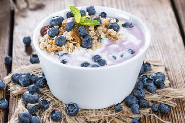 Homemade Blueberry Yogurt