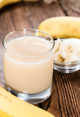 Glass with Banana Juice