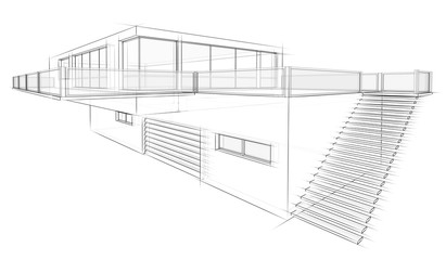 Architektur Skizze