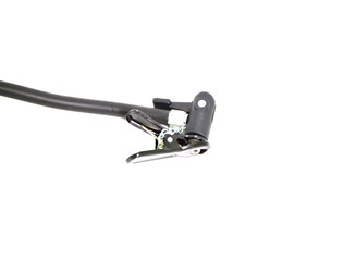 Hand pump head with white background