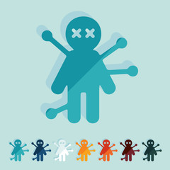 Flat design: voodoo Doll