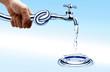 faucet in hand