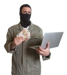 Hacker mit Beute