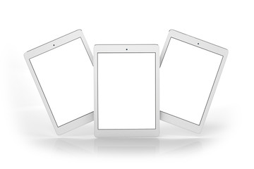 White Tablets on white background