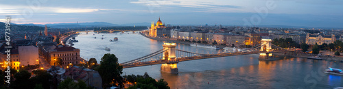 Foto op Canvas Panorama of Budapest