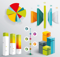 Modern infographics set. Diagram and Time Line design. Vector
