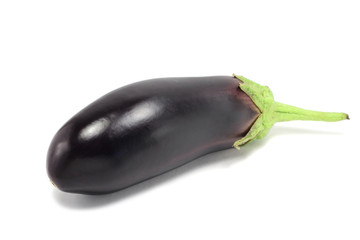 purple eggplant isolated on white background