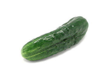 green cucumber isolated on white background