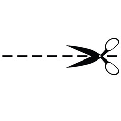 Scissors on a white background with markings. Raster