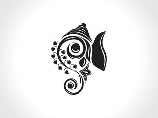 abstract artistic ganesha background