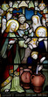 Wedding at Cana in stained glass