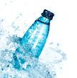 Bottle of water splash